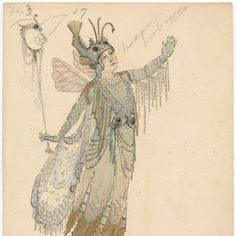 Evil Cast For the Soul - Costume Design by Ceneilla Bower Alexander. Krewe of Rex, 1920 Parade, New Orleans, Theme: Life's Pilgrimage.