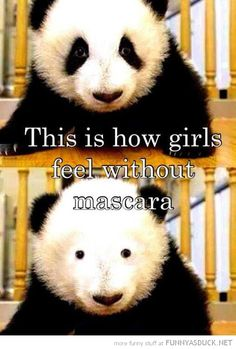 Girls Without Mascara. Please understand us men. We know we are hard to figure out. Does this shed some light? Lol