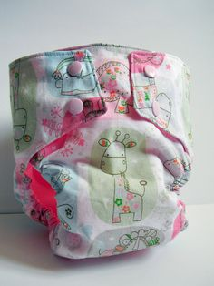 Pastel Animals Water Resistant PUL Diaper Cover Available in Medium. $12.00, via Etsy.