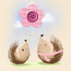 Imagine added a new photo. Hedgehog Art, Cute Hedgehog, Hedgehog Illustration, Children's Book Illustration, Cute Images, Cute Pictures, Clipart Baby, Baby Clip Art, Sweet Pic