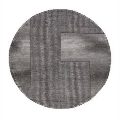 Tom Dixon Round Stripe Rug - Black / White | SRR01BLWH | £1,200.00