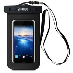 """FRiEQ Universal Waterproof Cell Phone Case fits up to 5.3"""" Black iPhone Protects #FRIEQ  http://stores.ebay.com/YOUR-BEST-OFFERS/Bags-Cases-/_i.html?_fsub=7076575014"""