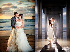 bride and groom portraits at scripps seaside forum #weddingphotography / top local wedding photographers