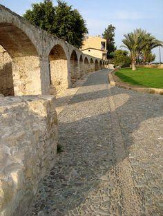 Old Nicosia Roman Aqueduct in Cyprus.