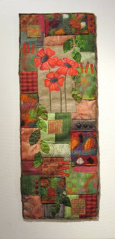 Poppy patchwork | Flickr - Photo Sharing!-another great one for my breakfast room skinny wall
