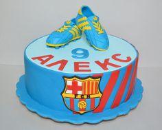 FC Barcelona cake on Cake Central