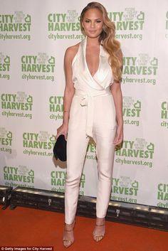 Chrissy Teigen wearing Giuseppe Zanotti Coline Sandals