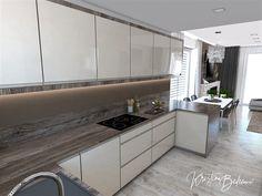 Funkčná elegancia - Dizajn kuchyne s obývačkou - Kristína Bedečová Living Room Kitchen, Luster, Kitchen Cabinets, Home Decor, Elegant, Decoration Home, Room Decor, Kitchen Living, Cabinets