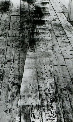 Victor Burgin, Photopath, 1967. As installed in the exhibition When Attitudes Become Form at the Institute of Contemporary Arts, London, 1969.