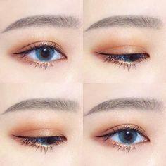 Lindo Makeup Goals, Makeup Inspo, Makeup Inspiration, Makeup Tips, Beauty Makeup, Face Makeup, Korean Makeup Look, Asian Eye Makeup, Natural Eye Makeup