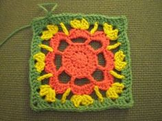 Image....granny square flower... Free pattern!
