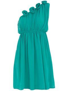 ruched flower dress | dorothy perkins
