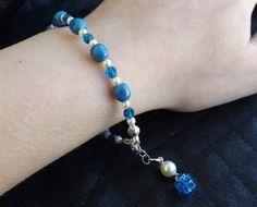 Bracciale perle Swarovski lapis pearl e di SognantiStelleBijoux