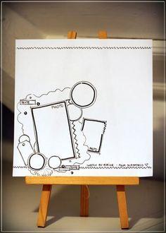 Sketch de Bibine pour Scrapidées