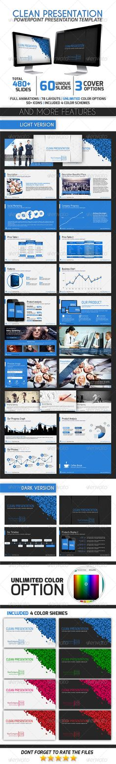 Clean Presentation - Business Powerpoint Templates