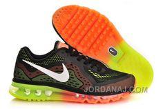 279c3300038 Nike Air 2014 Mens Black Total Crimson Orange Electric Green 621077 018  Cheap Air Max 2014 For Cheap Sale