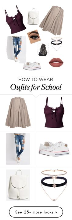 """Back to school/Fall look"" by hopsonkm on Polyvore featuring Cello, LE3NO, Converse and Everlane"