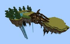 This is cool i mean it is floating and there is like and bridge attaching the two islands:) Amazing Minecraft, Minecraft Tips, Minecraft Creations, How To Play Minecraft, Minecraft Designs, Minecraft Stuff, Floating Island, Floating House, Minecraft Architecture