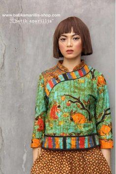 Batik amarillis s joyluck jacket Batik Fashion, Ethnic Fashion, Trendy Fashion, Fashion Art, Boho Fashion, Fashion Outfits, Womens Fashion, Fashion Clothes, Amarillis
