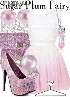 Sugar Plum Fairy ~ The Nutcracker By DisneyBound Disney Bound Outfits, Disney Dresses, Disney Clothes, Disney Inspired Fashion, Disney Fashion, Pretty Outfits, Cute Outfits, Sparkly Outfits, Estilo Disney