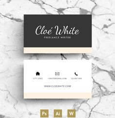Business Card / Creative Template by Emily's ART Boutique on @creativework247                                                                                                                                                                                 More