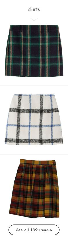 """""""skirts"""" by danisnotonfire ❤ liked on Polyvore featuring skirts, bottoms, green, wool plaid skirt, zipper skirt, green plaid skirt, preppy skirts, woolen skirts, mini skirts and high rise skirts"""