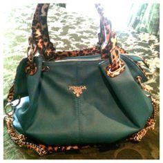 My teal & cheetahprint Prada purse :)