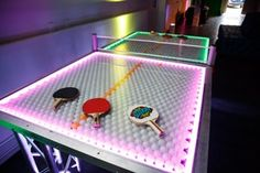 Luxury Party Ideas, Venues and Top Event Professionals Bat Mitzvah Decorations, Bar Mitzvah, Ping Pong Table, Corporate Events, Game Room, Pop Art, Neon, Wedding, Luxury