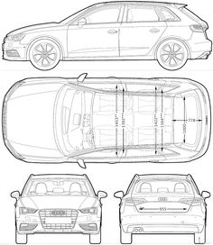 Most Loved Car Blueprints For 3D Modeling | CGfrog  Graphic, Web, Designs,