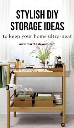 Stylish DIY Storage Ideas to Keep Your Home Ultra-Neat | Martha Stewart Living - Get ready to feel like you've wandered into your own Pinterest board. These DIY storage ideas make organizing affordable and aesthetically pleasing. Win win.