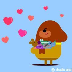 STUDIO AKA : HEY DUGGEE Flat Design Illustration, Graphic Illustration, Cumpleaños Diy, Hug Gif, Gifs, Happy 2nd Birthday, Animal Birthday, Sugar Art, Motion Design