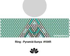 peyote ring pattern,PDF-Download, #184R, beading pattern, beading tutorials, ring pattern