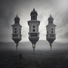 Three towers by Leszek Bujnowski