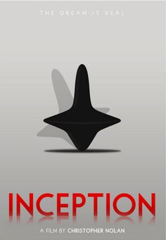 Inception (2010) ~ Minimal Movie Poster by Polar Designs #amusementphile