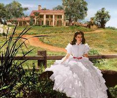 Scarlett em Tara(Vivien Leigh) - E O Vento Levou