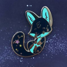 Galaxy fox pin from TheJindoDogShop on etsy