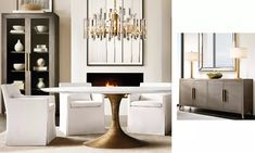 Rooms Dining   RH Open Space Living, Living Spaces, Chic Office Decor, Furniture Vanity, Modern Shop, Home Hardware, French Country Decorating, Restoration Hardware, Modern Decor