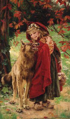 fer- Lejeune, Eugene Joseph (b,1818)- Little Red Riding Hood -2a