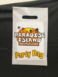 Paradise island party bag 3 colour printing amazing!