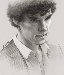 Sherlock by TendaLee Sherlock Poster, Sherlock Holmes 3, Benedict Sherlock, Benedict Cumberbatch Sherlock, Sherlock John, Funny Sherlock, Sherlock Quotes, Portrait Sketches, Portrait Art