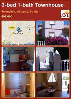 3-bed 1-bath Townhouse in Torrevieja, Alicante, Spain ►€97,000 #PropertyForSaleInSpain