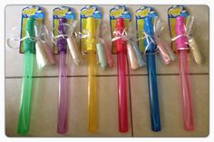 Kids party favors! From Dollar Tree $1 bubble wands and sidewalk chalk ($1/ box 20). Easy, fun and even better SUGAR FREE :)