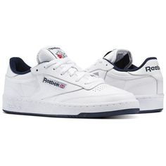 4e3d6d25158 Reebok Males Club C 85 in White   Navy Size 10 - Court