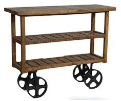 Visit Bella Coastal Decor right now and search our high-quality collection of beach style furniture, like this Bengal Manor Mango Wood Industrial Cart! Industrial Bar Cart, Rustic Industrial, Industrial Design, Furniture Deals, Rustic Furniture, Furniture Buyers, Furniture Market, Kitchen Furniture, Bedroom Furniture