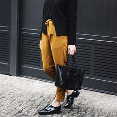 Leather Flap Medium Handbag