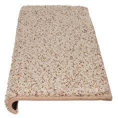 "WINDSOR Adhesive Bullnose Carpet Stair Tread - 27"" W - Latte - by Castle Range"