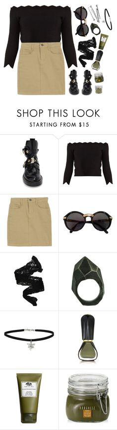 """""""Vegan ?"""" by mode-222 ❤ liked on Polyvore featuring Balenciaga, Alexander McQueen, Cartier, Wolford, Lady Grey, Miss Selfridge, Oribe, Origins, Borghese and Oggi"""