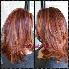 Super pretty #redhaircolor on @mrsschleif0504 today! Did a mix of #foils and…