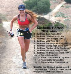 Ultrarunner who currently holds 12 ultra running course records.~ records to beat!! :)
