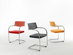 Moment Side Chairs Moment Side Chairs Tags / Keywords:  Moment side chair Guest Seating Cantilever Office Stacking KnollTextiles Media ID: 7246